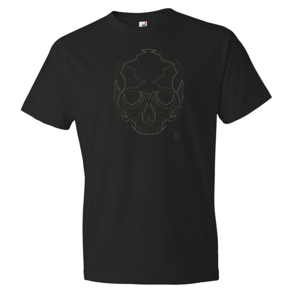 """Techniskull"" - geometric skull t-shirt - MB4 Studio ..."